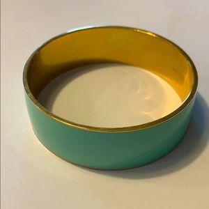 Mint and gold bangle